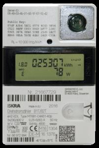 Foto eines digitalen Stromzählers